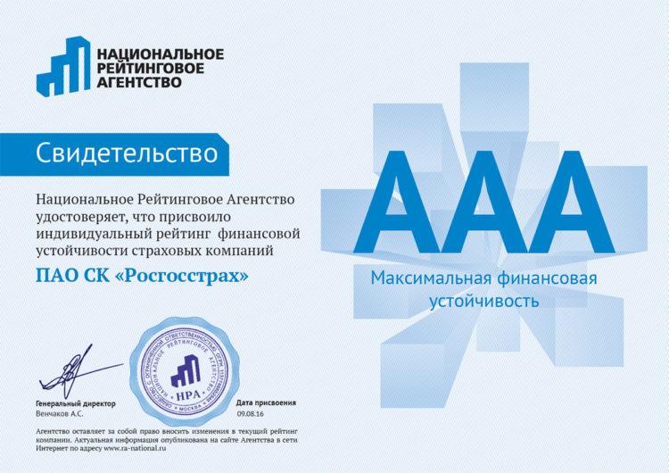 ААА рейтинг