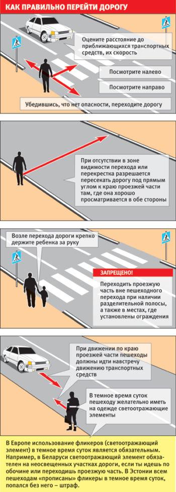 Как переходить дорогу