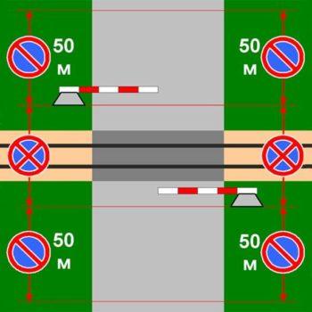 Правила парковки возле железнодорожного переезда
