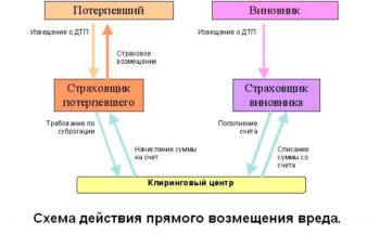 схема взаимодействия потерпевшего и виновника ДТП